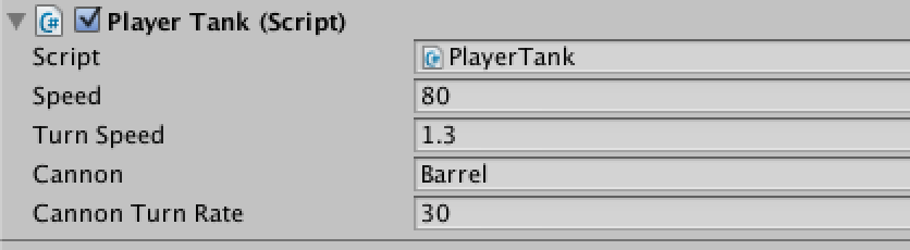 Tank move and barrel mouse follow script