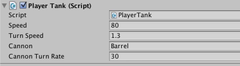 Tank move and barrel mouse follow script